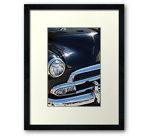Black Antique Muscle Car Framed Print