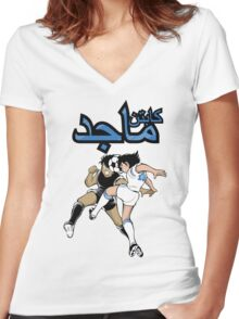 Captain Majed Women's Fitted V-Neck T-Shirt