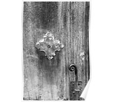 San Juan Door Detail with Latch bw Poster