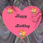 Pink Heart Birthday card by Forfarlass