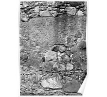 San Juan Wall 2 Black and White Poster