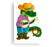 The Banjo Alligator Canvas Print