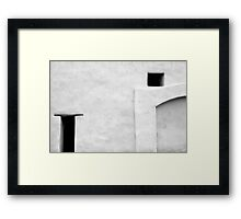 San Juan Wall Abstract 3 Black and White Framed Print
