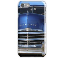 Blue Plymouth Antique Muscle Car iPhone Case/Skin