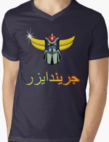 Grendizer Mens V-Neck T-Shirt