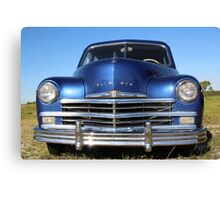 Blue Plymouth Antique Muscle Car Canvas Print