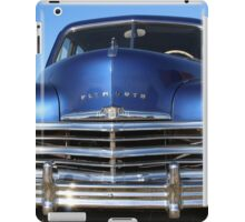 Blue Plymouth Antique Muscle Car iPad Case/Skin