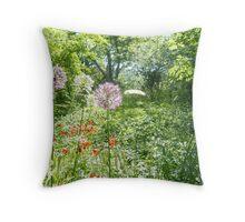 Summer in the Nordic Garden Throw Pillow