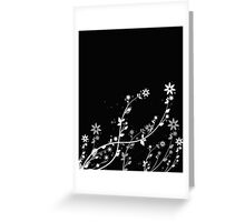 Windy flowers Greeting Card