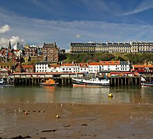 Whitby Lower Harbour and the West Cliff by Rod Johnson