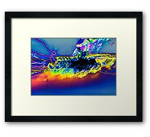 The Star Ship is being attacked by rainbows inverted experiential photograph Framed Print