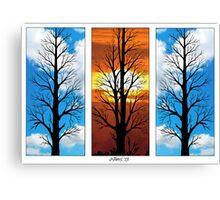 THREE TREES IN A ROW Canvas Print