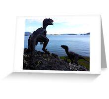 Raptors on the Rocks Greeting Card