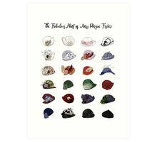 Miss Fisher's Fabulous Hats Art Print