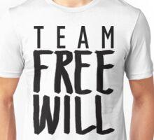 TEAM FREE WILL (black print) Unisex T-Shirt