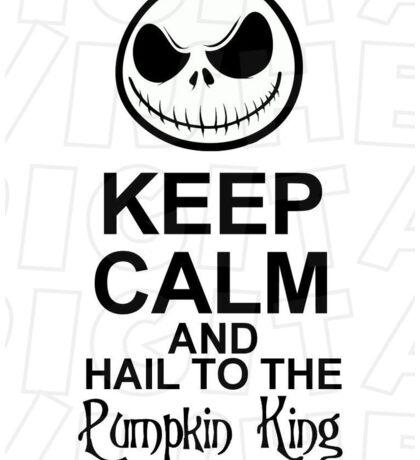 Jack Skellington-Keep Calm Design Sticker