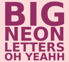 Big Neon Letters Kids Clothes