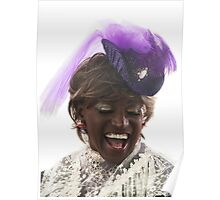 Laughing Lady in Lace Poster