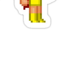 Krypton Pixel Figure Sticker Set Sticker