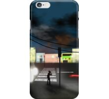 Thirsty cowboy waiting for a green light iPhone Case/Skin