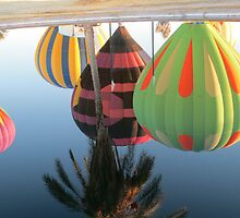 Hot Air Balloons Refection Up Side Down by Tina Hailey