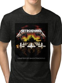 METROIDVANIA Master of Backtracking Tri-blend T-Shirt