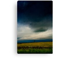 Yellow Meadow Tree Canvas Print