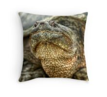 Snapping Turtle X Throw Pillow