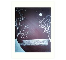 Snow Fields - Acrylic Painting Art Print