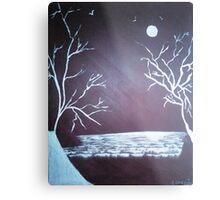 Snow Fields - Acrylic Painting Metal Print