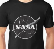 NASA Black (with white border) Unisex T-Shirt