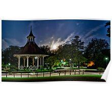 Supermoon Over Chapelfield Gardens Poster