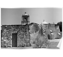 Mission Concepcion Black and White Poster