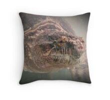 Wildlife: Snapping Turtle Throw Pillow