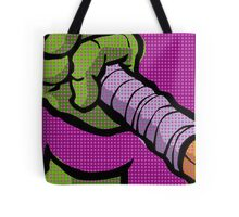 Lichtenstein Pop Martial Art Quelonians | Purple Tote Bag