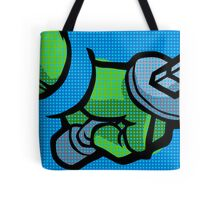 Lichtenstein Pop Martial Art Quelonians | Blue Tote Bag