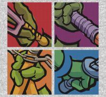 Lichtenstein Pop Martial Art Quelonians Full Set T-Shirt