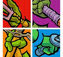 Lichtenstein Pop Martial Art Quelonians Full Set Photographic Print
