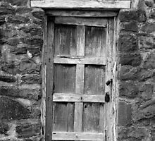 San Jose Door Black and White by marybedy