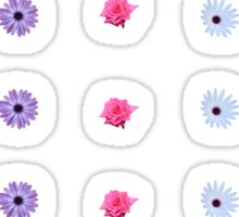 Mixture of Roses and Other Flowers Sticker