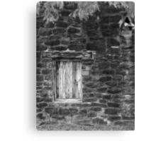San Jose Window 2 Black and White Canvas Print