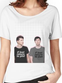 if lost return to dan/phil Women's Relaxed Fit T-Shirt