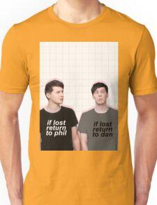 if lost return to dan/phil Unisex T-Shirt