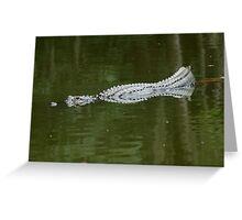 Abstract gator Greeting Card