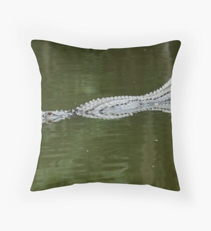 Abstract gator Throw Pillow