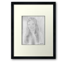 A beautiful young lady Framed Print