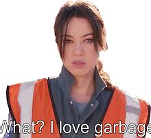 April Loves Garbage by evilhag