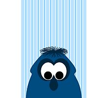 Silly Little Dark Blue Monster Photographic Print