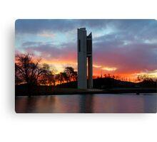 Winters Glow  Aspen Island Canberra Australia Canvas Print