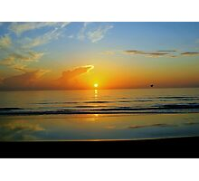 Sunrise at Flagler Beach, Florida Photographic Print